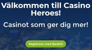 Klicka här och hämta 100 % bonus upp till 2000 kr på Casino Heroes!