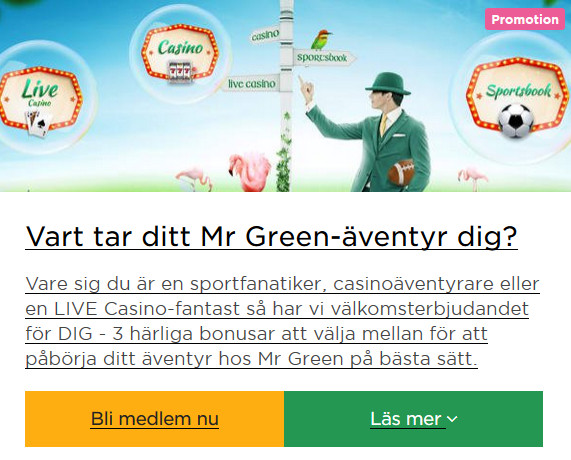 Mr Green är ett seriöst casino - spela där nu!