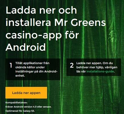 Mr Green Casino har ett märkt mobilcasino!